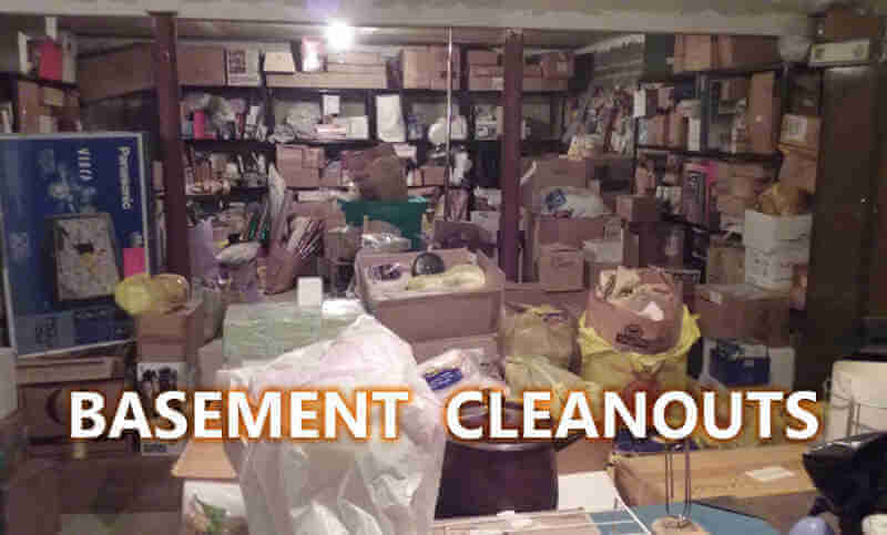 Basement Cleanout Service (Before)